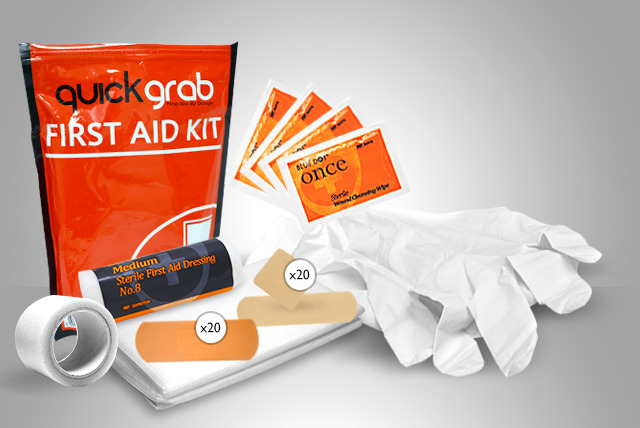 £7 instead of £23.98 (from First Aid Warehouse) for a Quick Grab medium-size first aid kit - safety first and save 71%