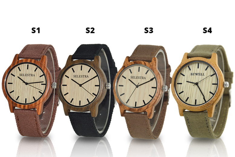 Hand-Crafted Wooden Watch - 4 Designs!