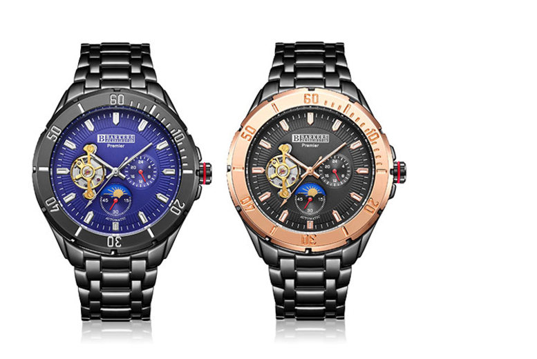 Barkers of Kensington Automatic Sports Watch - 2 Colours!