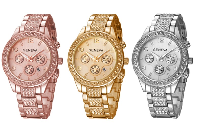 Crystal Geneva Freya watch - 3 Colours!