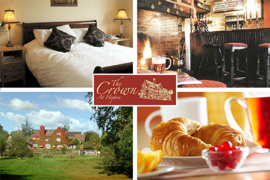 £39 (1nt) or £79 (2nts) for 2 inc. brekkie at The Crown at Hopton, Shropshire, or 3 nts inc. 2 course dinner for £139 - save up to 66%