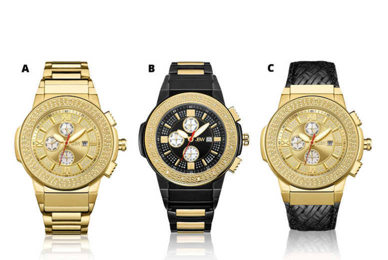Men's Saxon Crystal Swiss Watch - 3 Designs & Delivery Included!